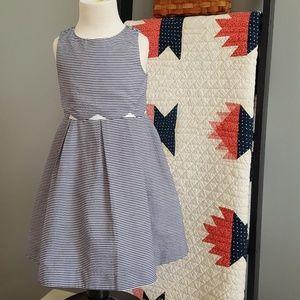 Janie and Jack Blue Seersucker Dress